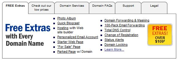 how to get domain free extension dot com